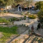 Blick auf den Sewa Ashram vom Dach der Tuberkulose-Krankenstation